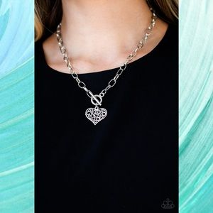 Heart-Touching Harmony Silver Toggle Necklace Set